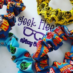 Collection of Super Hero scrunchies